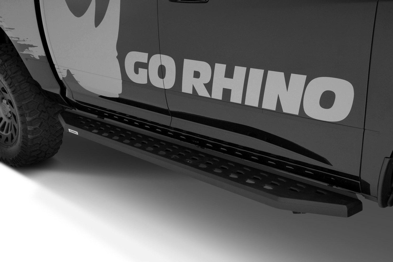 "Go Rhino Running Boards >> Go Rhino® 69412680PC - 5"" RB20 Cab Length Black Running Boards"