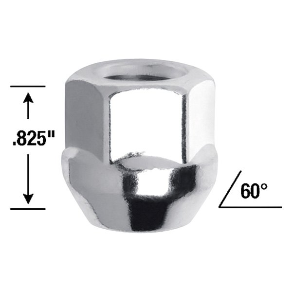 9//16 Thread Size Gorilla Automotive 90097 Acorn Bulge Open End Lug Nuts