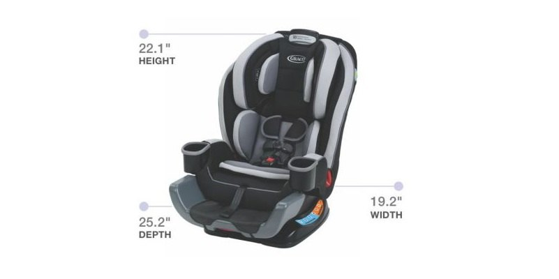 Extend2Fit Convertible Car Seat Dimensions Graco Baby