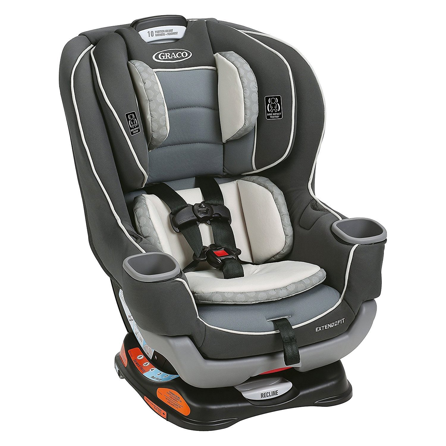 graco baby 1993220 extend2fit basin style convertible car seat. Black Bedroom Furniture Sets. Home Design Ideas