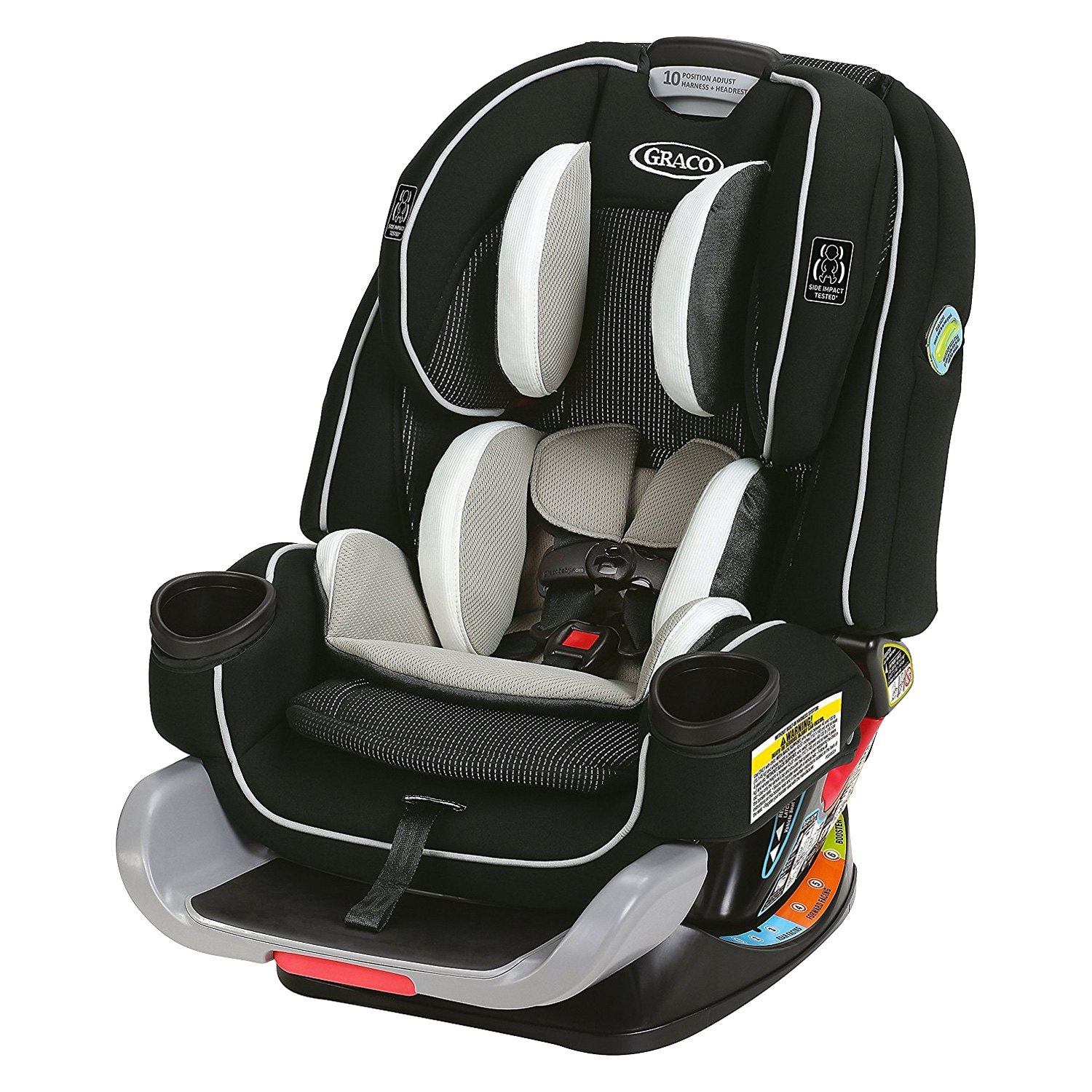 graco baby 4ever extend2fit all in one convertible car seat. Black Bedroom Furniture Sets. Home Design Ideas