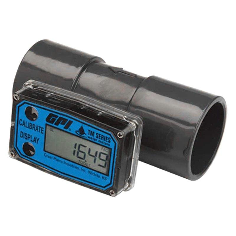Digital Water Meter : Gpi turbine digital water flow meter