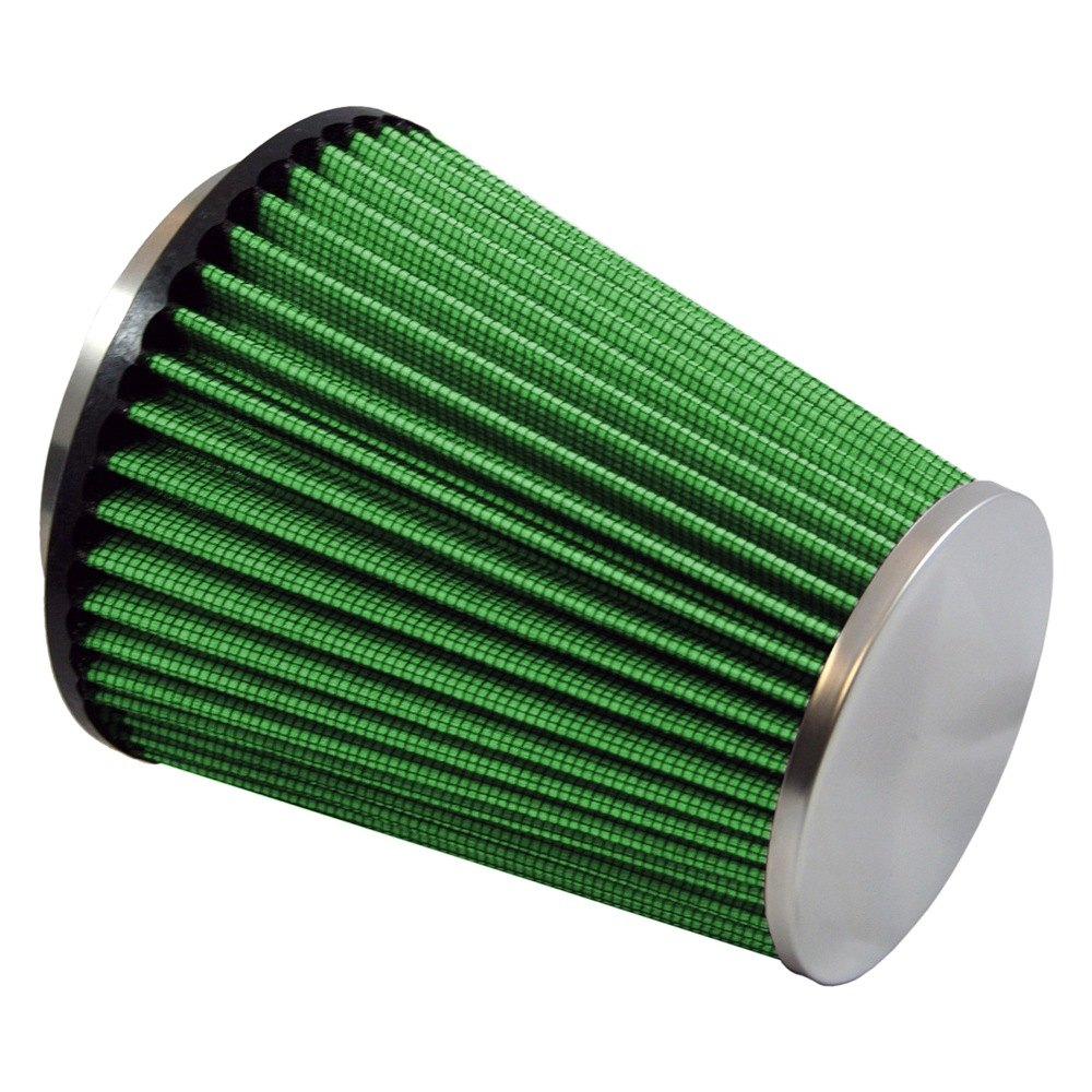 green filter 2024 round tapered green air filter with ss end cap and straight inlet 3 5 f x. Black Bedroom Furniture Sets. Home Design Ideas