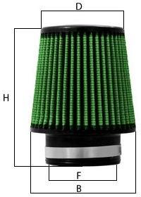 Cone Filter Dimensions