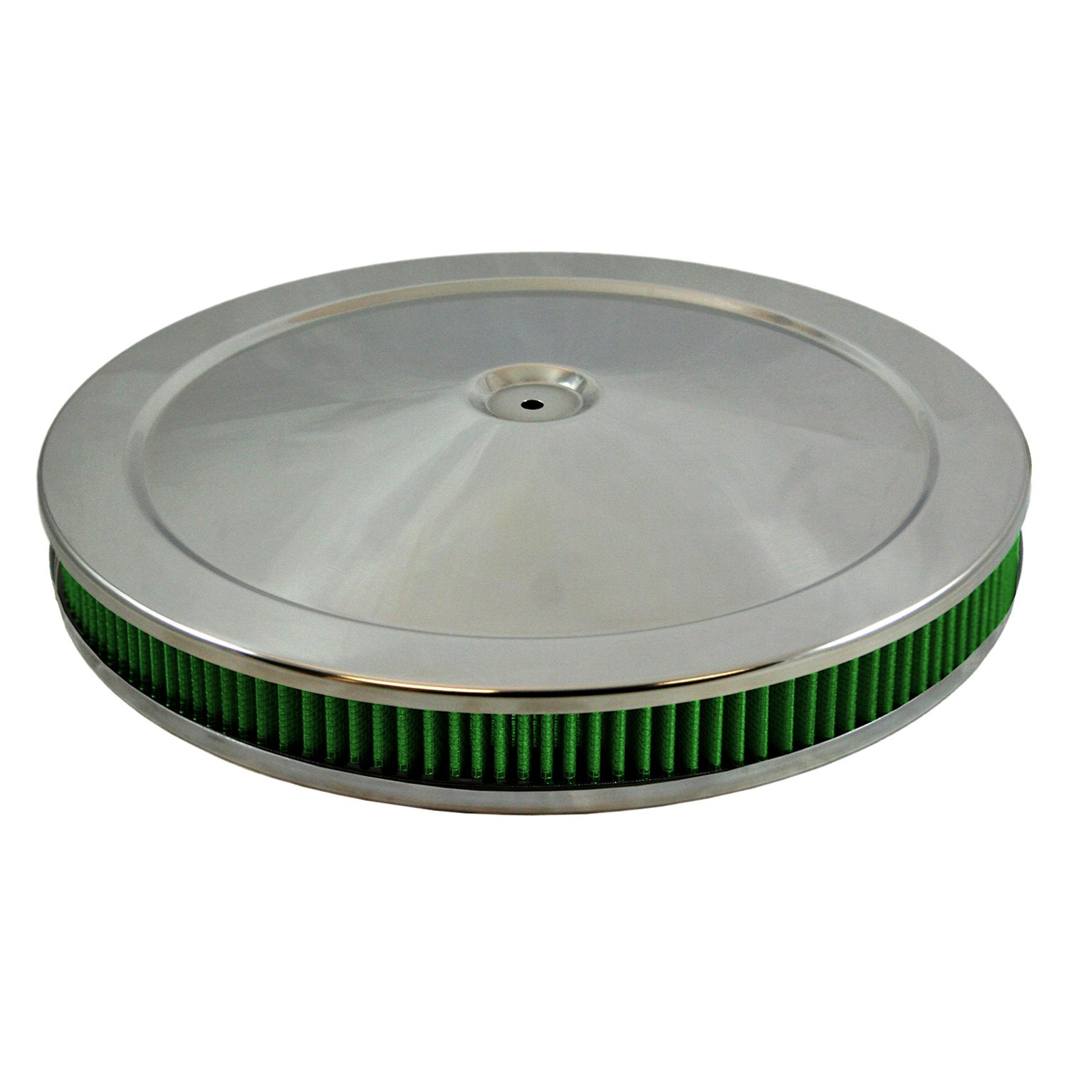 Air Filter Assembly : Green filter chrome air cleaner assembly