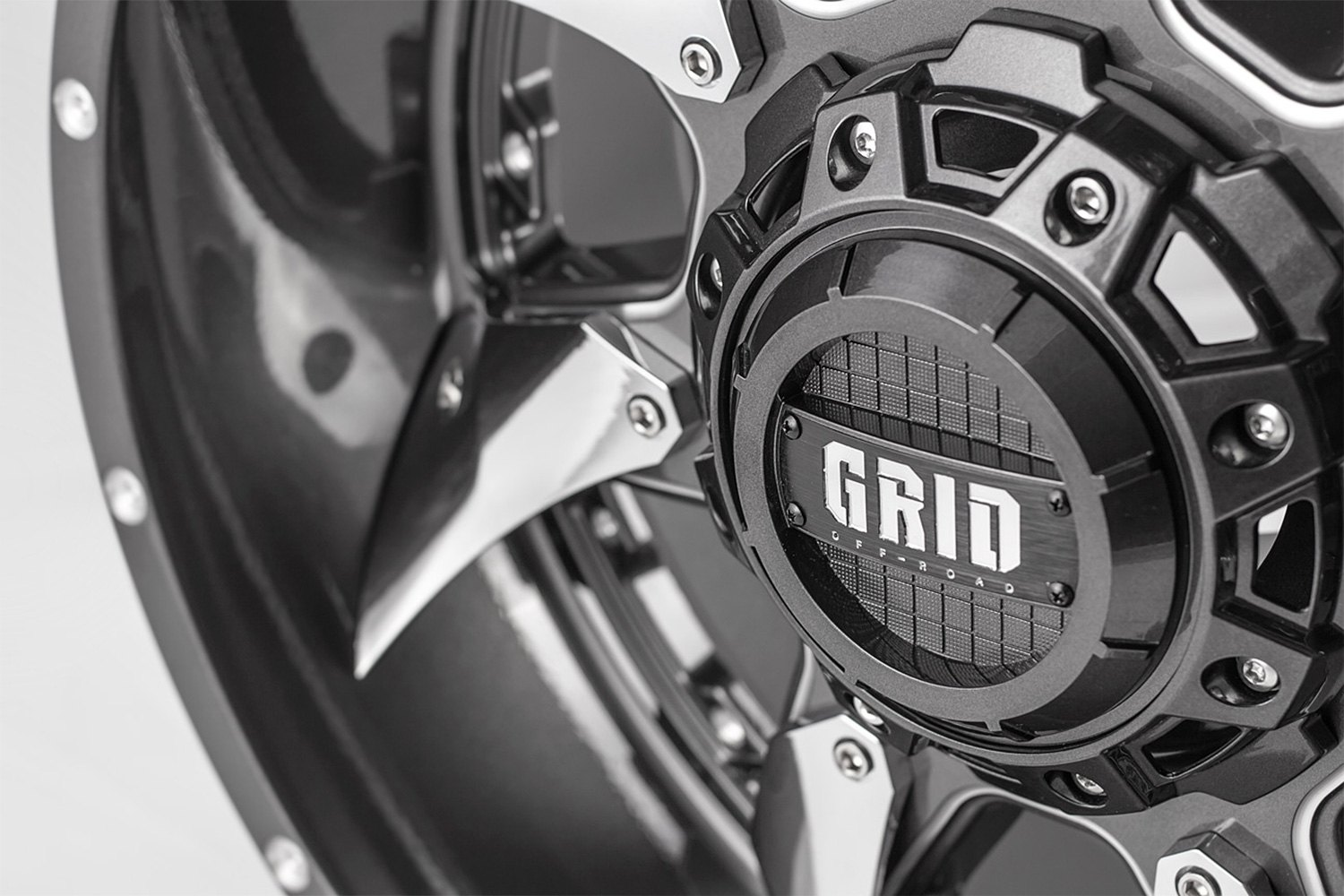 Grid Gd1 Wheels >> GRID OFF-ROAD® GD1 Wheels - Gloss Graphite with Milled Accents and Chrome Inserts Rims