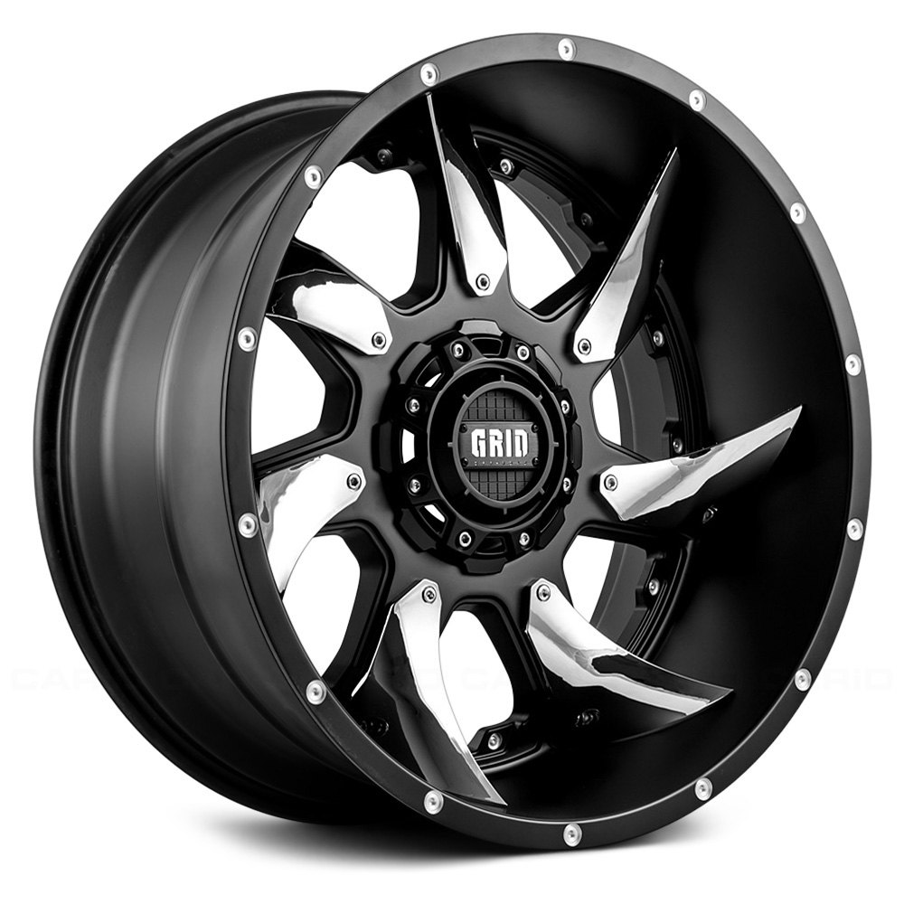 Grid Gd1 Wheels >> GRID OFF-ROAD® GD1 Wheels - Matte Black with Chrome Inserts Rims