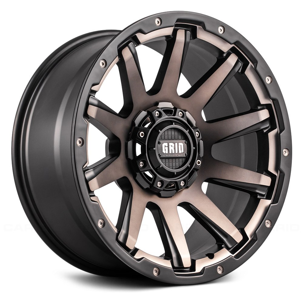 Grid Off Road 174 Gd5 Wheels Matte Black With Bronze Face Rims