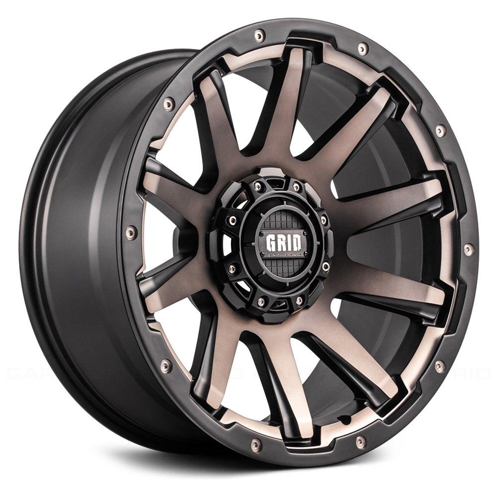 Grid Off Road 174 Gd5 Wheels Matte Black With Bronze Face Rims