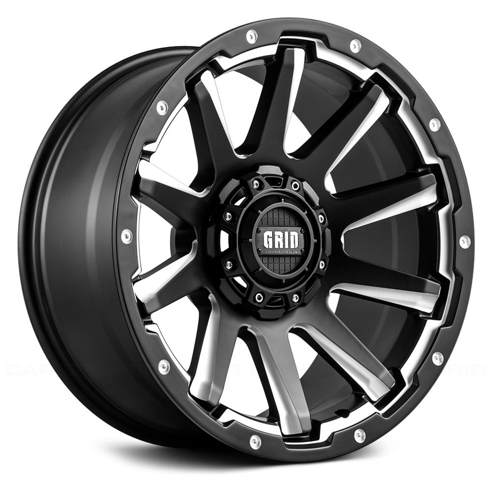 Grid Off Road 174 Gd5 Wheels Matte Black With Milled