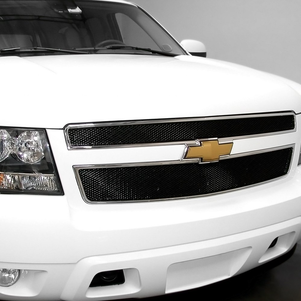 4 pc mx series black powder coated fine mesh main and bumper grille