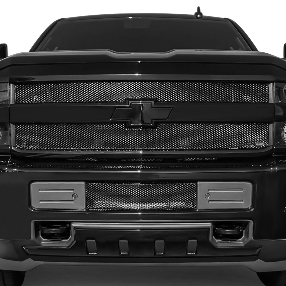 grillcraft chevy silverado 2500 hd 3500 hd 2016 3 pc mx series 2003 Silverado Grill grillcraft 3 pc mx series black powder coated fine mesh main and bumper
