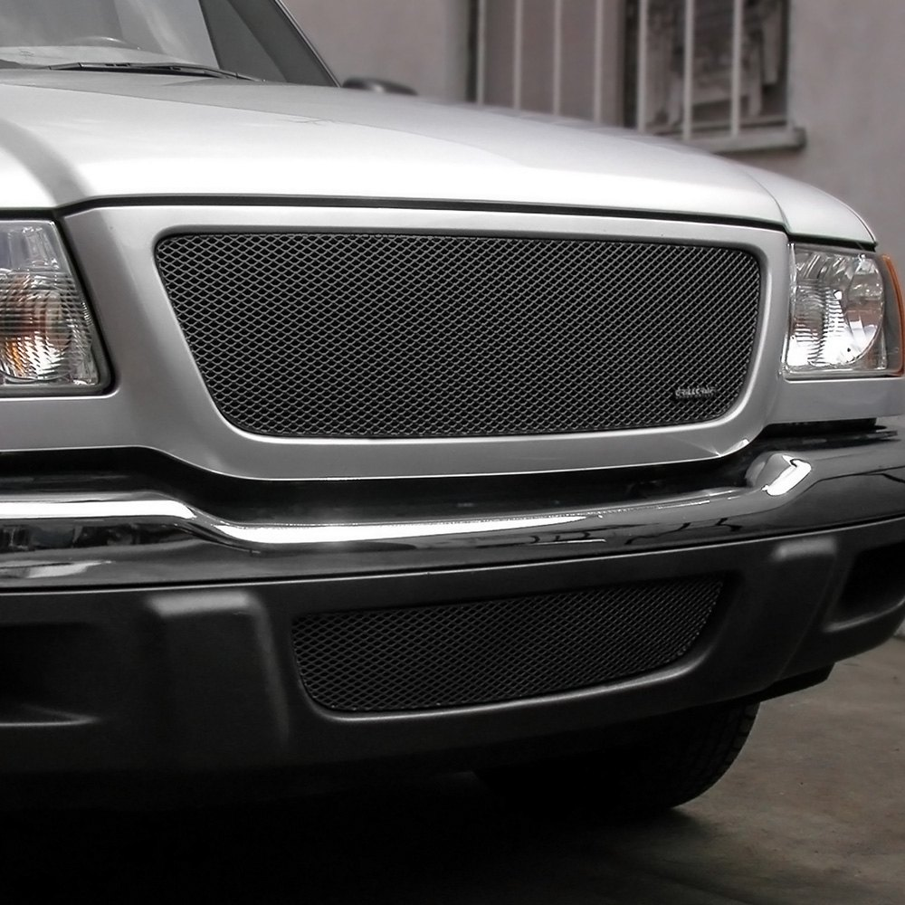 Grillcraft Ford Ranger 2002 2 Pc Mx Series Black Fine Mesh Grille