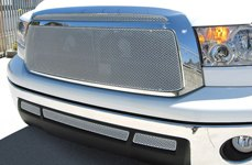 GrillCraft® - MX-Series Silver Mesh Grille on Toyota Tundra