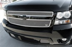 GrillCraft® - SW-Series Polished SS Mesh Grille on Chevy Avalanche