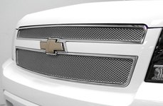 GrillCraft® - MX-Series Silver Mesh Grille on Chevy Tahoe