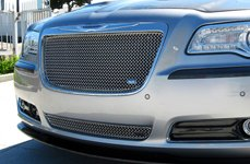 GrillCraft® - SW-Series Polished SS Mesh Grille on Chrysler 300