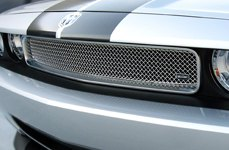GrillCraft® - SW-Series Polished SS Mesh Grille on Dodge Challenger
