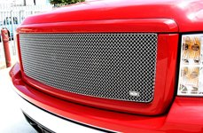 GrillCraft® - SW-Series Polished SS Mesh Grille on GMC Sierra