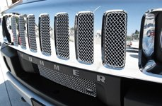 GrillCraft® - SW-Series Polished SS Mesh Grille on Hummer H2