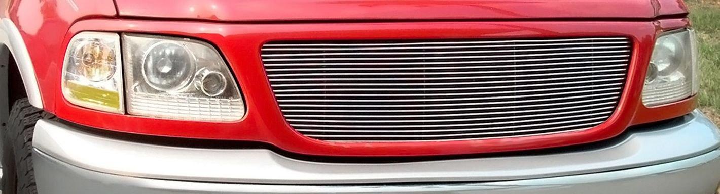 2002 Ford F 150 Custom Grilles Billet Mesh Led Chrome
