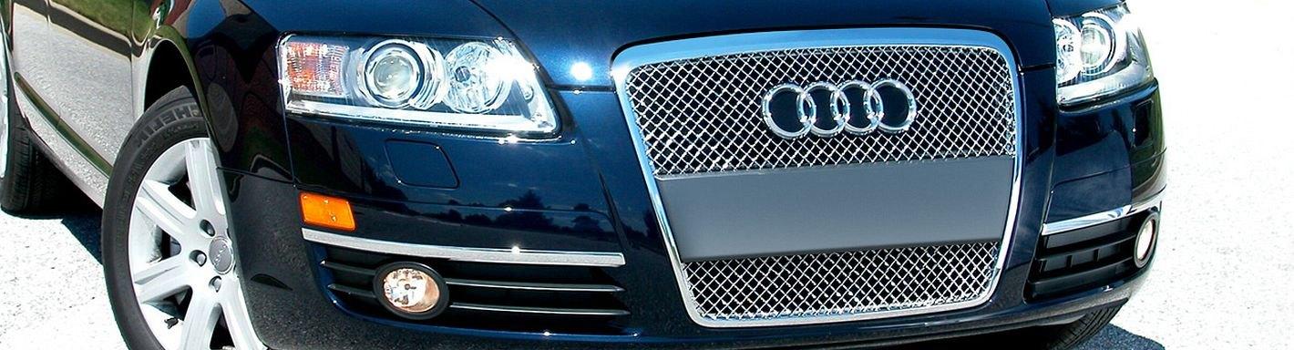 2006 Audi A6 Custom Grilles Billet Mesh Led Chrome Black