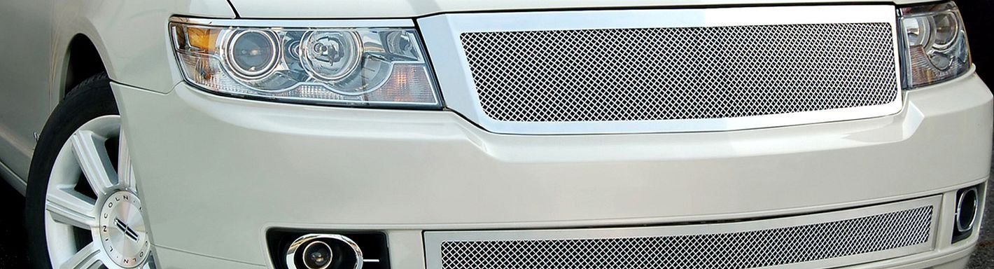 2007 Lincoln Mkz Custom Grilles Billet Mesh Led Chrome Black