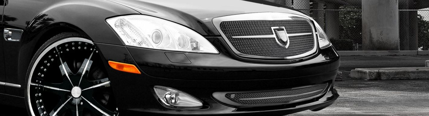 2007 mercedes s class custom grilles billet mesh led for Mercedes benz custom grills