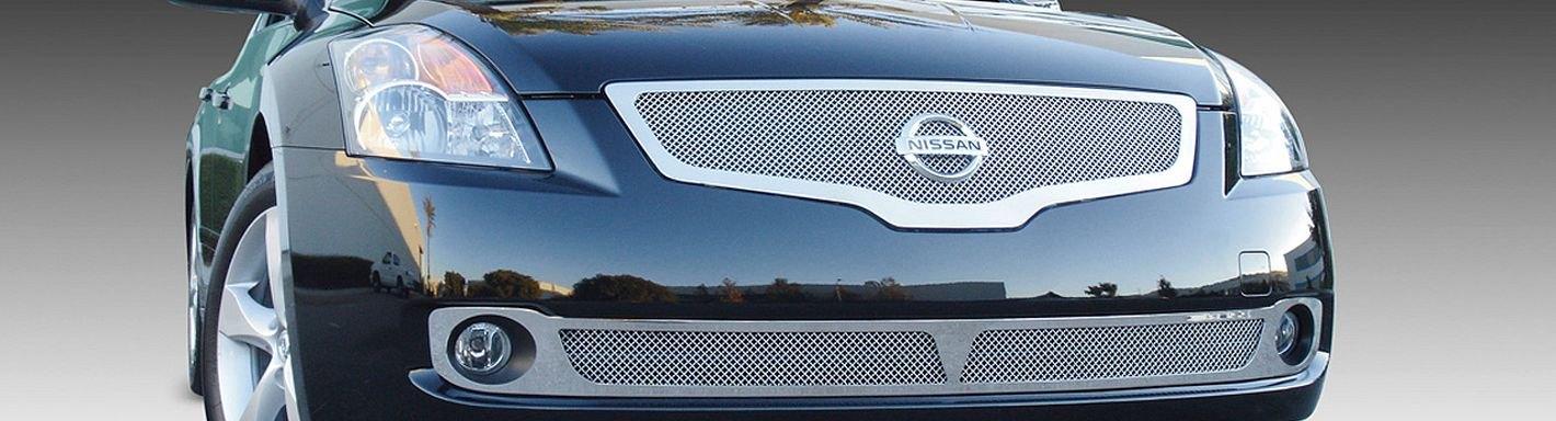 2009 Nissan Altima Custom Grilles Billet Mesh Led Chrome Black