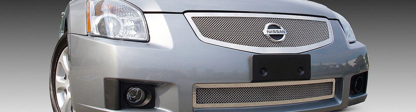 2008 Nissan Maxima Custom Grilles Billet Mesh Led Chrome Black