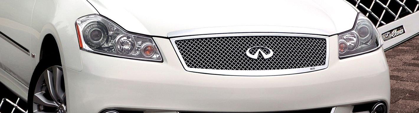 2012 Infiniti M35 Custom Grilles Billet Mesh Led Chrome Black