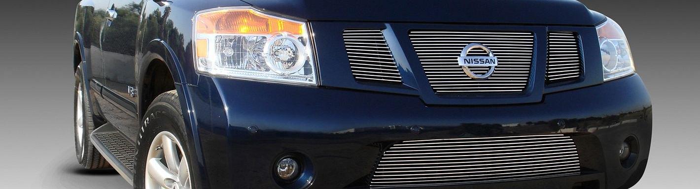 2008 Nissan Armada Custom Grilles Billet Mesh Led