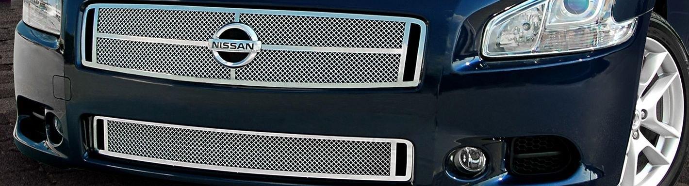2013 Nissan Maxima Custom Grilles Billet Mesh Led Chrome Black