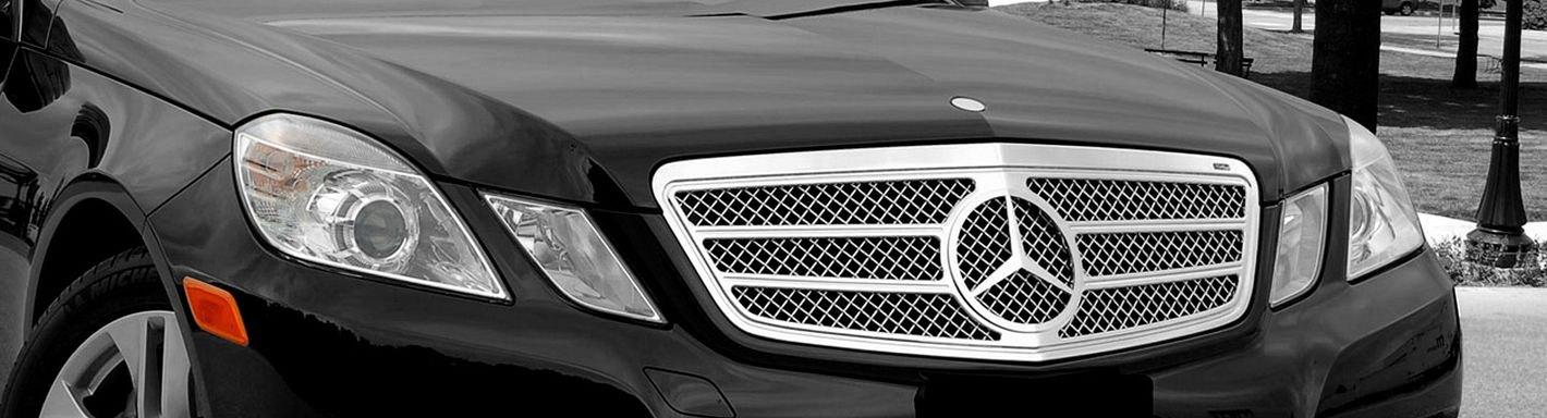 2013 mercedes e class custom grilles billet mesh led for Mercedes benz custom grills