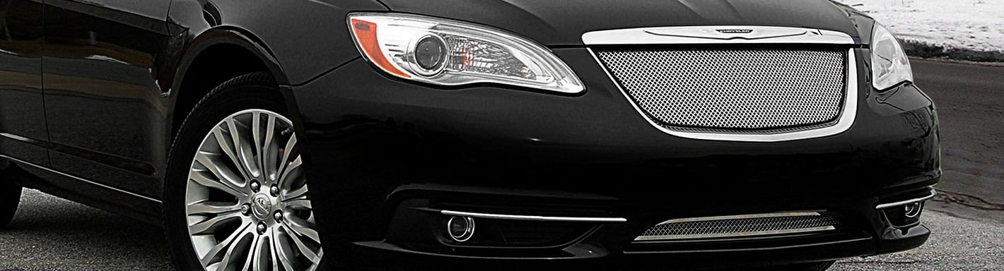 2012 Chrysler 200 Grill >> 2012 Chrysler 200 Custom Grilles Billet Mesh Led Chrome Black