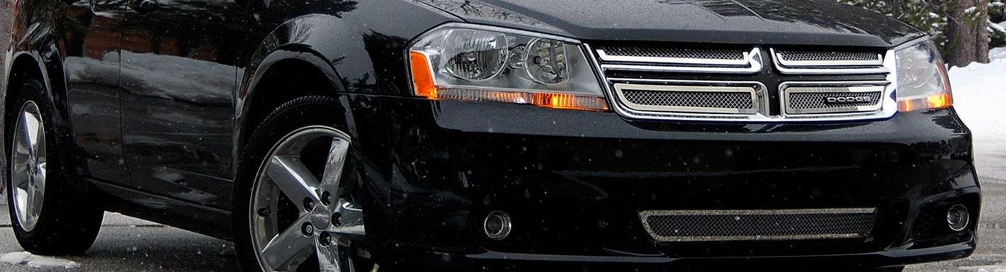 2013 Dodge Avenger Custom Grilles Billet Mesh Led Chrome Black