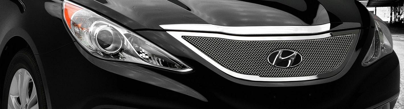 2012 Hyundai Sonata Custom Grilles Billet Mesh Led