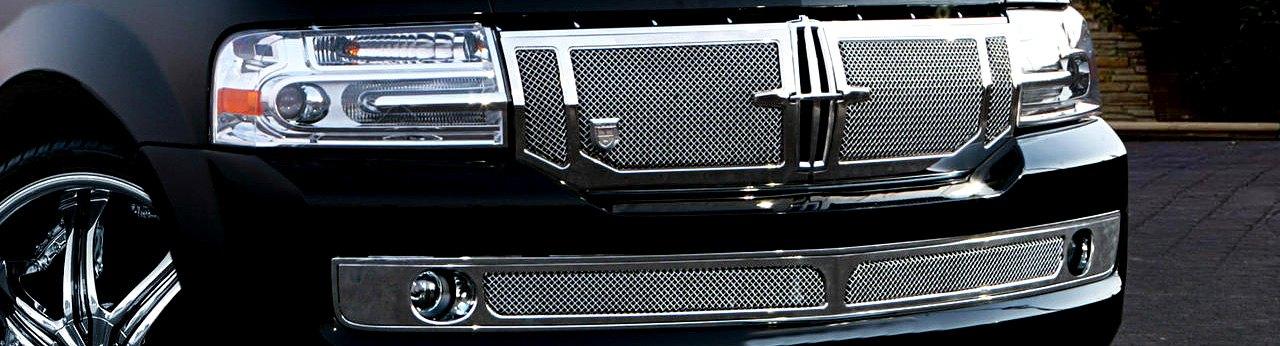 Lincoln Custom Grilles Billet Mesh Cnc Led Chrome Black