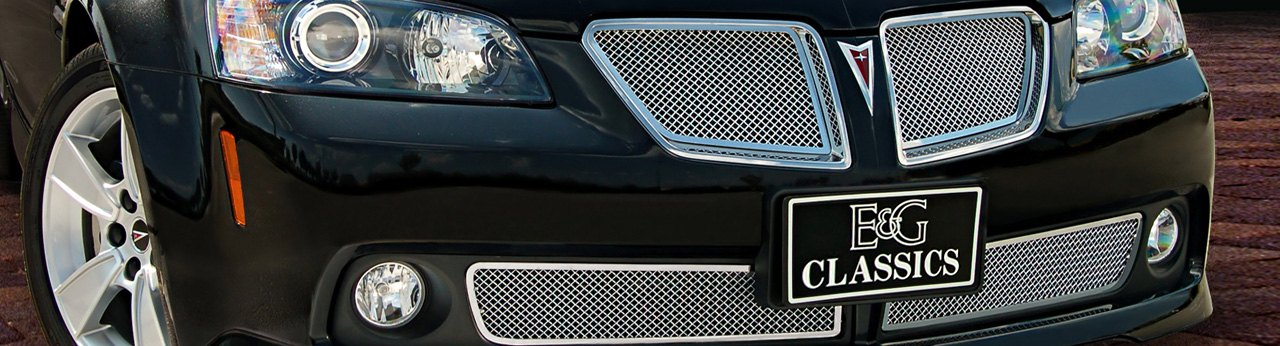 2005 GTO Hood Grilles Overlays Mirror Stainless Steel