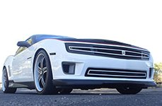 DJ Grilles� - Phantom Hidden Headlight Mesh Grille on Chevy Camaro SS