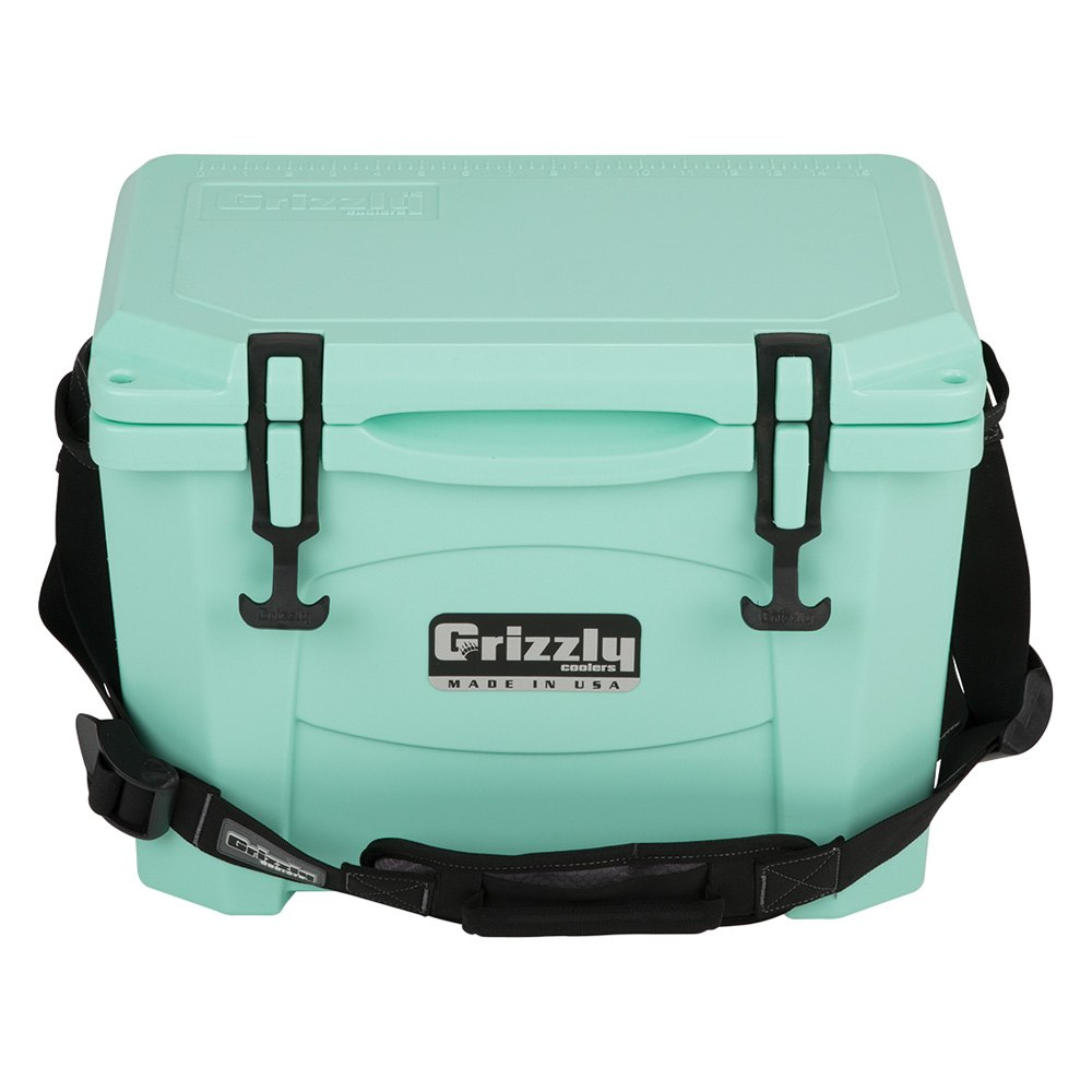 Green Styrofoam Coolers ~ Grizzly coolers  qts sea foam green portable
