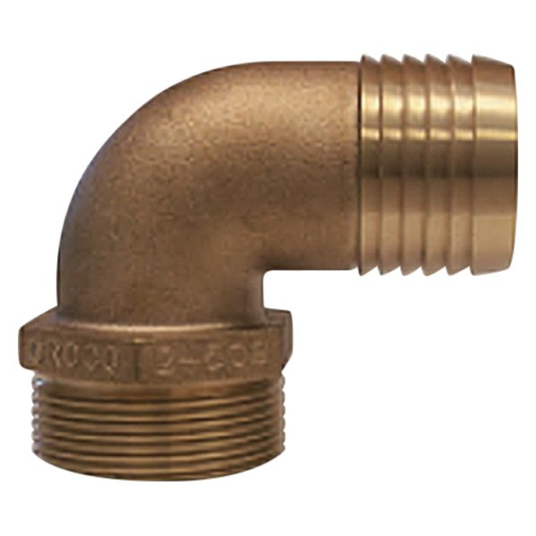Groco pthc pd quot npt bronze degree pipe to hose