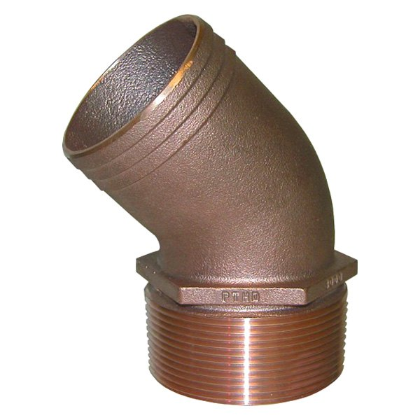 Groco pthd quot npt bronze degree pipe to hose