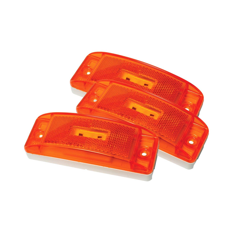 "Grote® - SuperNova™ Turtleback II 6""x2"" Rectangular Amber LED Side Marker"