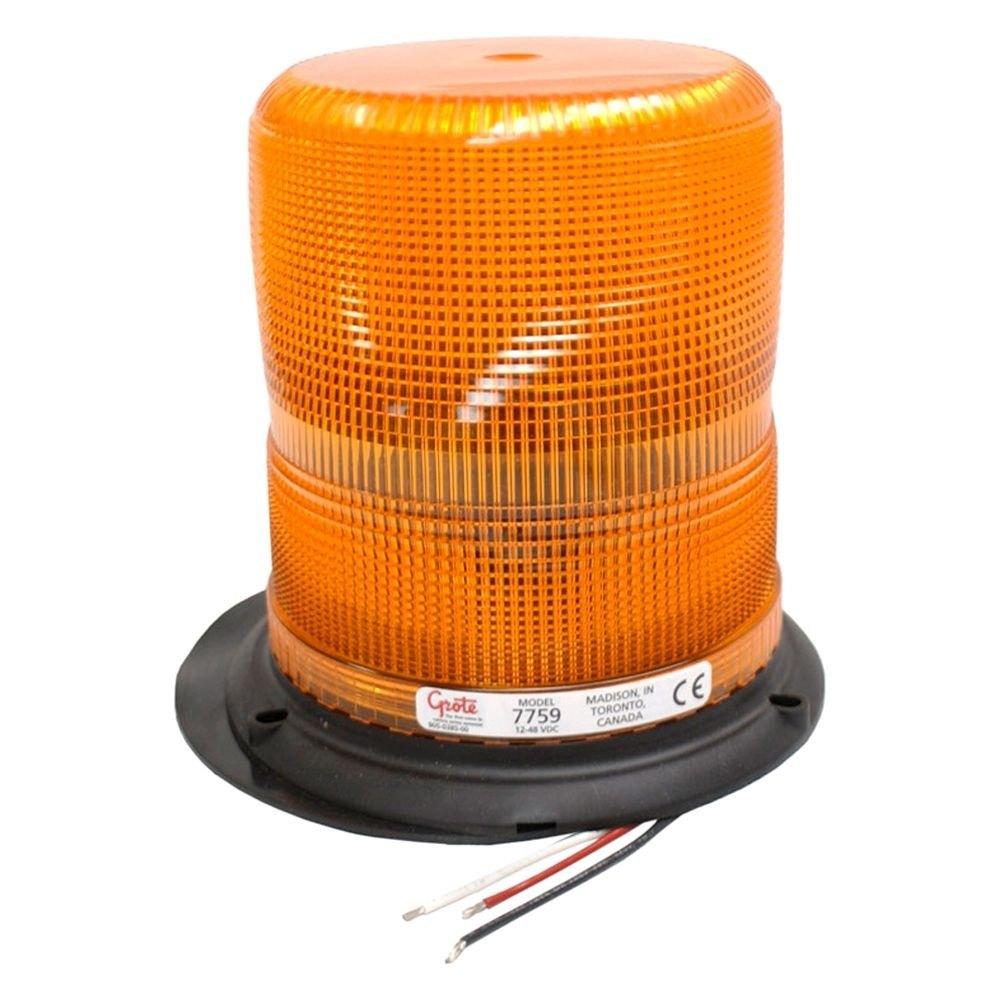 Grote 174 77593 High Profile Plastic Base Amber Beacon Light