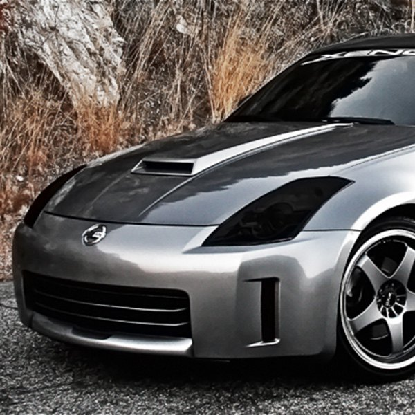 Details About For Nissan 350z 2003 2008 Gts Gt0784s Smoke Headlight Covers