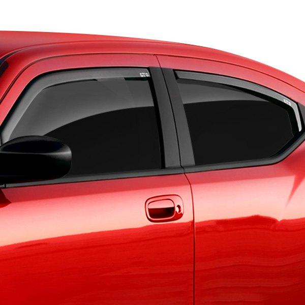 Chrome Window Vent Visors Rainguard Tap On For Dodge Ram: GTS 85663 06-10 Dodge Charger Wind Deflectors Rain Guard