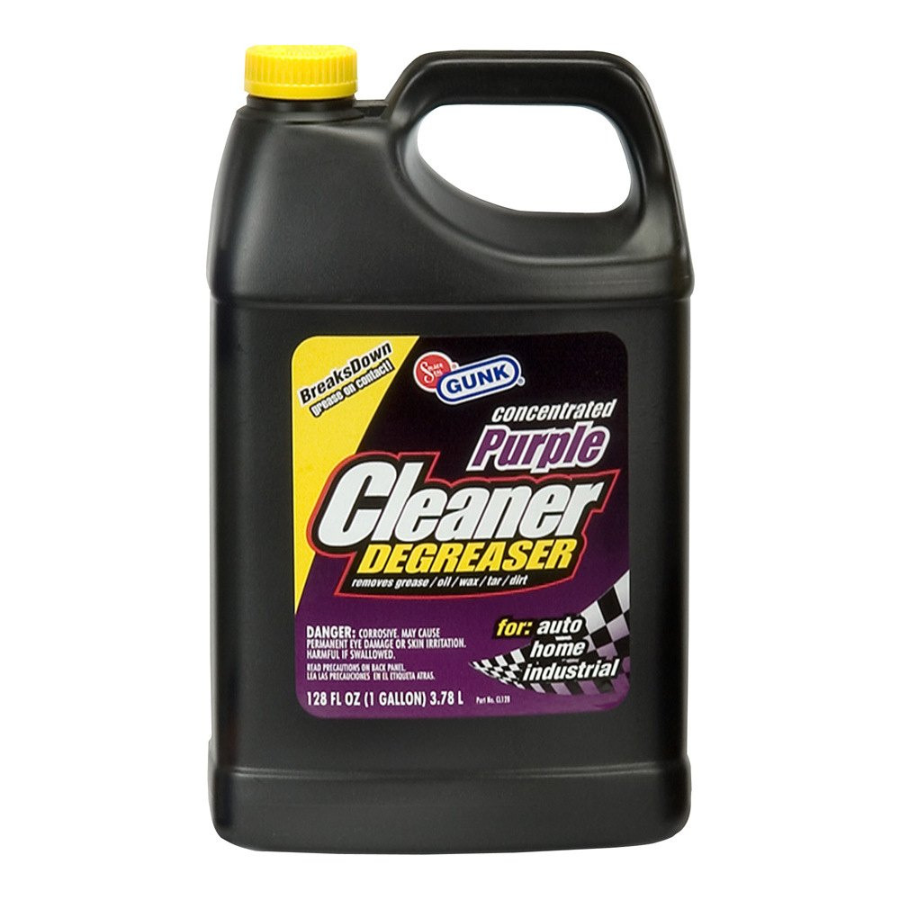 Gunk cl128 concentrated cleaner degreaser purple 1 gal for Concrete cleaner degreaser