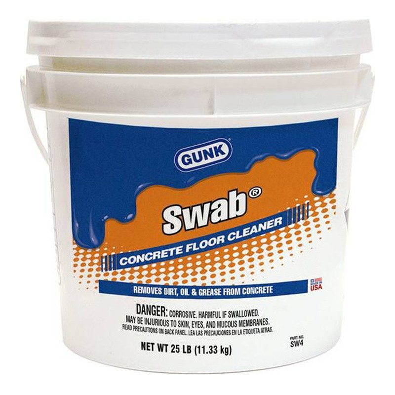 gunk swab powdered concrete floor cleaner