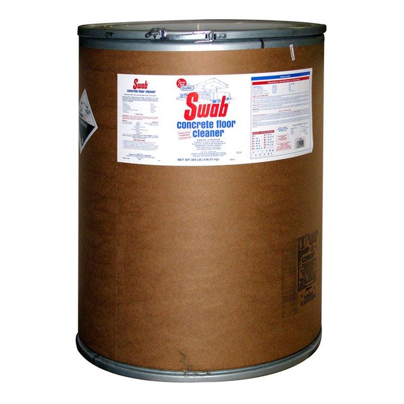 Gunk swab powdered concrete floor cleaner for Garage concrete cleaner